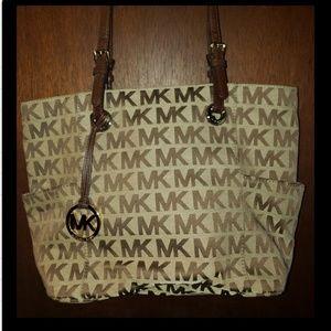 Beige MK bag